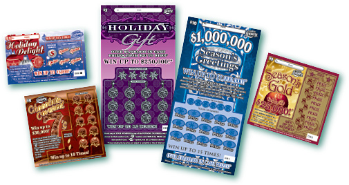 Holiday Scratch-Off tickets from the Florida Lottery
