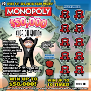 1310-MONOPOLY $50000 FLORIDA EDITION Scratch-Off Ticket