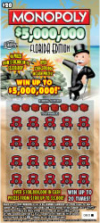 1313-MONOPOLY $5000000 FLORIDA EDITION Scratch-Off Ticket