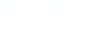 Down, Set, Scratch! The new $2 Scratch-Off game, $50,000 GRIDIRON CASH, is here!