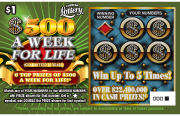 $500 A WEEK FOR LIFE Scratch-Off Ticket