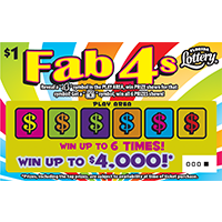 Fab 4s Scratch-Off Ticket