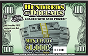 Hundreds Of Dollars Scratch-Off Ticket