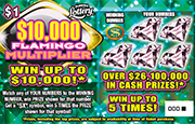 $10,000 FLAMINGO MULTIPLIER Scratch-Off Ticket