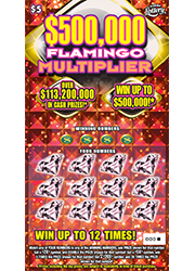 $500,000 FLAMINGO MULTIPLIER Scratch-Off Ticket