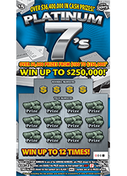 1321-Platinum 7s Scratch-Off Ticket