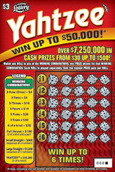 1330-Yahtzee Scratch-Off Ticket
