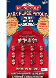 1236 MONOPOLY PARK PLACE PAYOUT